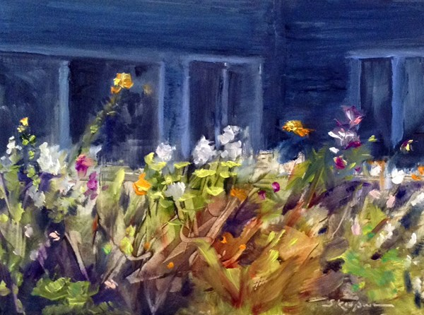 """End of the Day, Winnie's Garden"" original fine art by Shelley Koopmann"