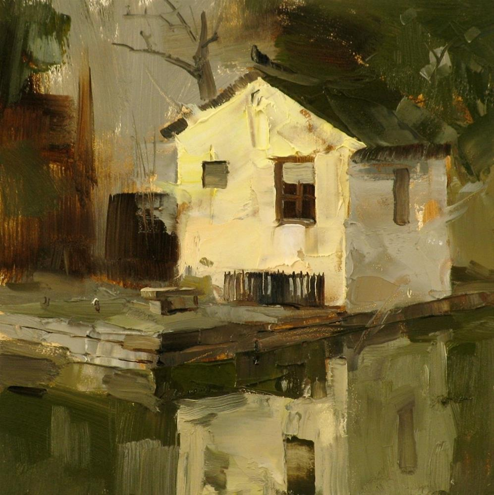 """A Small House"" original fine art by Qiang Huang"