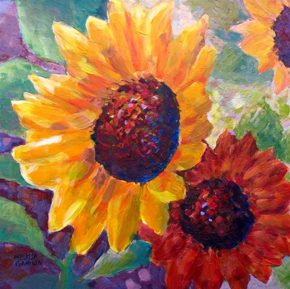 """Sunflower Concert"" original fine art by Melissa Gannon"
