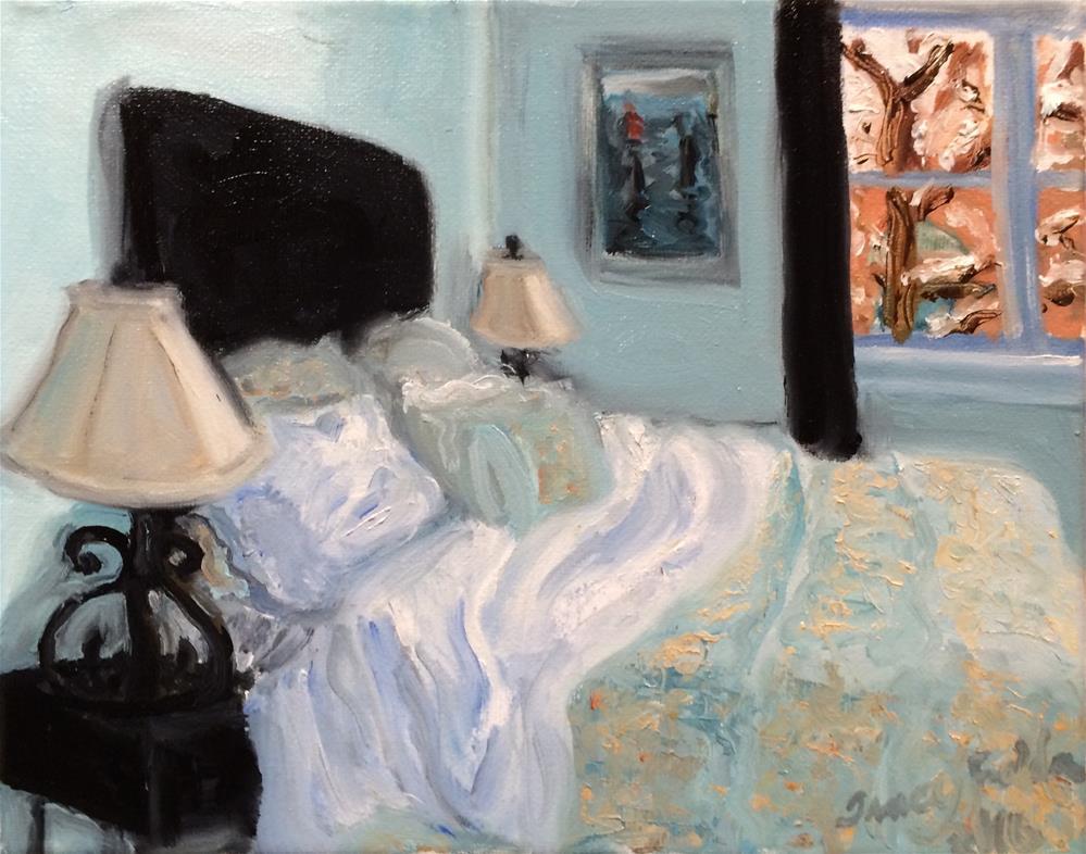 """Guest Room on a Snowy Day"" original fine art by Tracy Feldman"