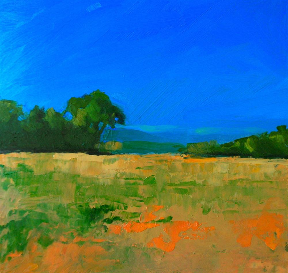 """Far Away Fields"" original fine art by Jane Robertson"