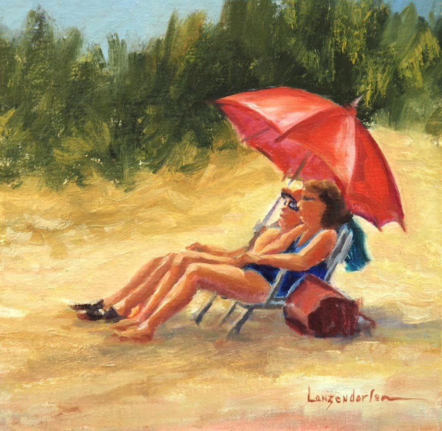 """SUNNING SURFSIDE"" original fine art by Dj Lanzendorfer"