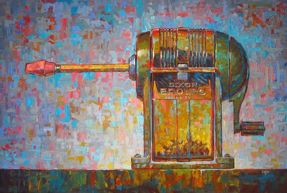 """Enduro Dixon No. 20 Pencil Sharpener (The Larger)"" original fine art by Raymond Logan"