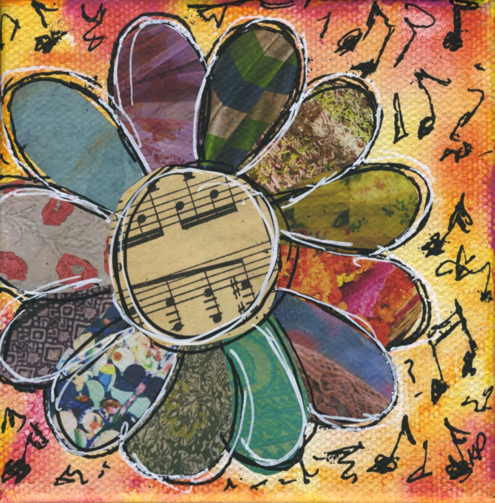 """Flowers are my Music"" original fine art by Kali Parsons"