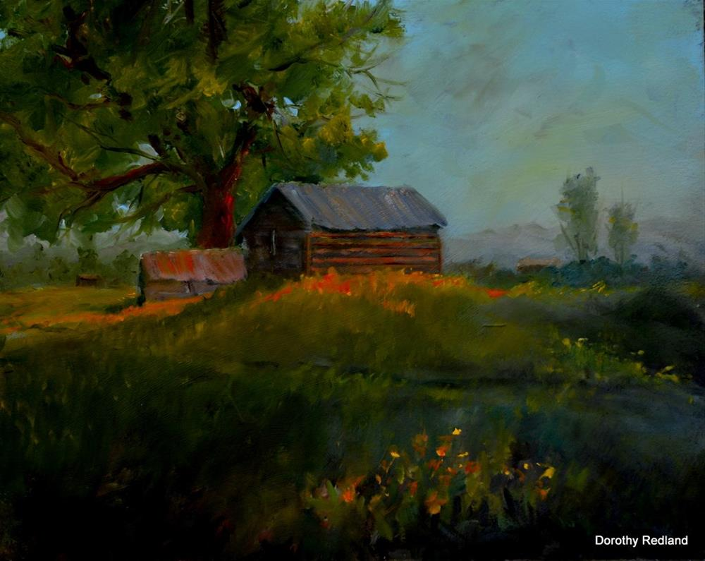 """THE OLD HOME PLACE"" original fine art by Dorothy Redland"
