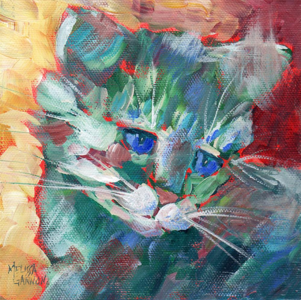 """Kitten Attitude"" original fine art by Melissa Gannon"