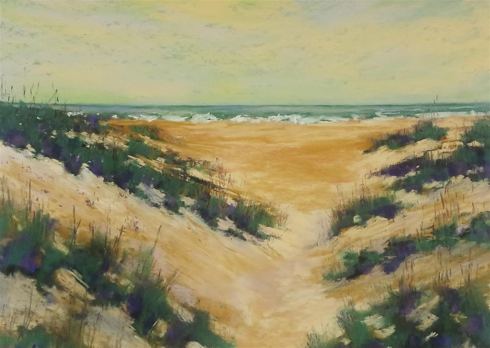 """Vacation Dunes"" original fine art by Donna Donnon"
