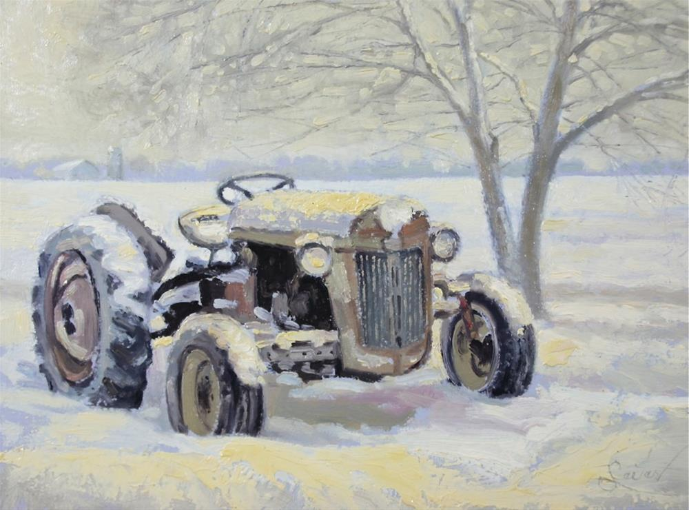 """Out to Pasture Tractor"" original fine art by Larry Seiler"