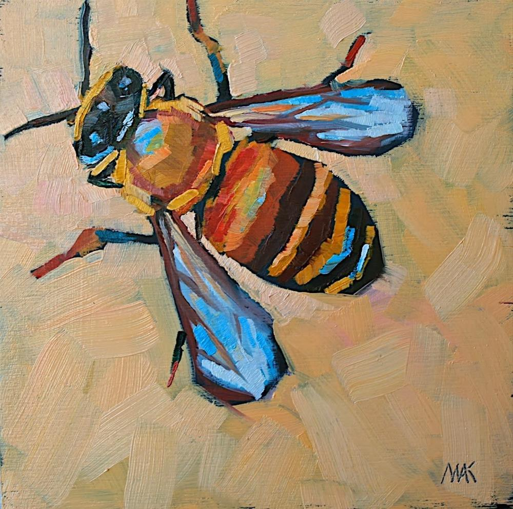 """Bee Still"" original fine art by Mary Anne Cary"