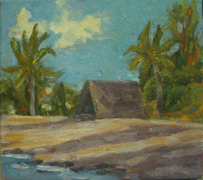 """Honokohau Harbor Sacred Hut"" original fine art by Stan Chraminski"