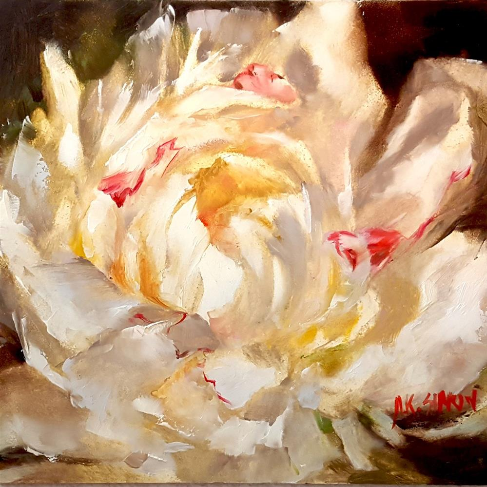 """Fresh Cut Peony"" original fine art by A.K. Simon"