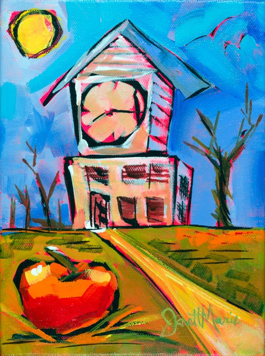 """Clock Tower"" original fine art by - JanettMarie"