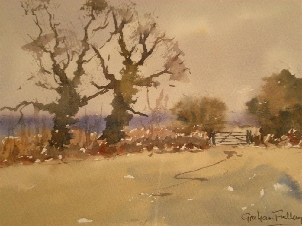 """A quiet February morning"" original fine art by Graham Findlay"
