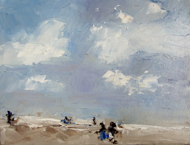 """skedaddling along the beach"" original fine art by Astrid Buchhammer"