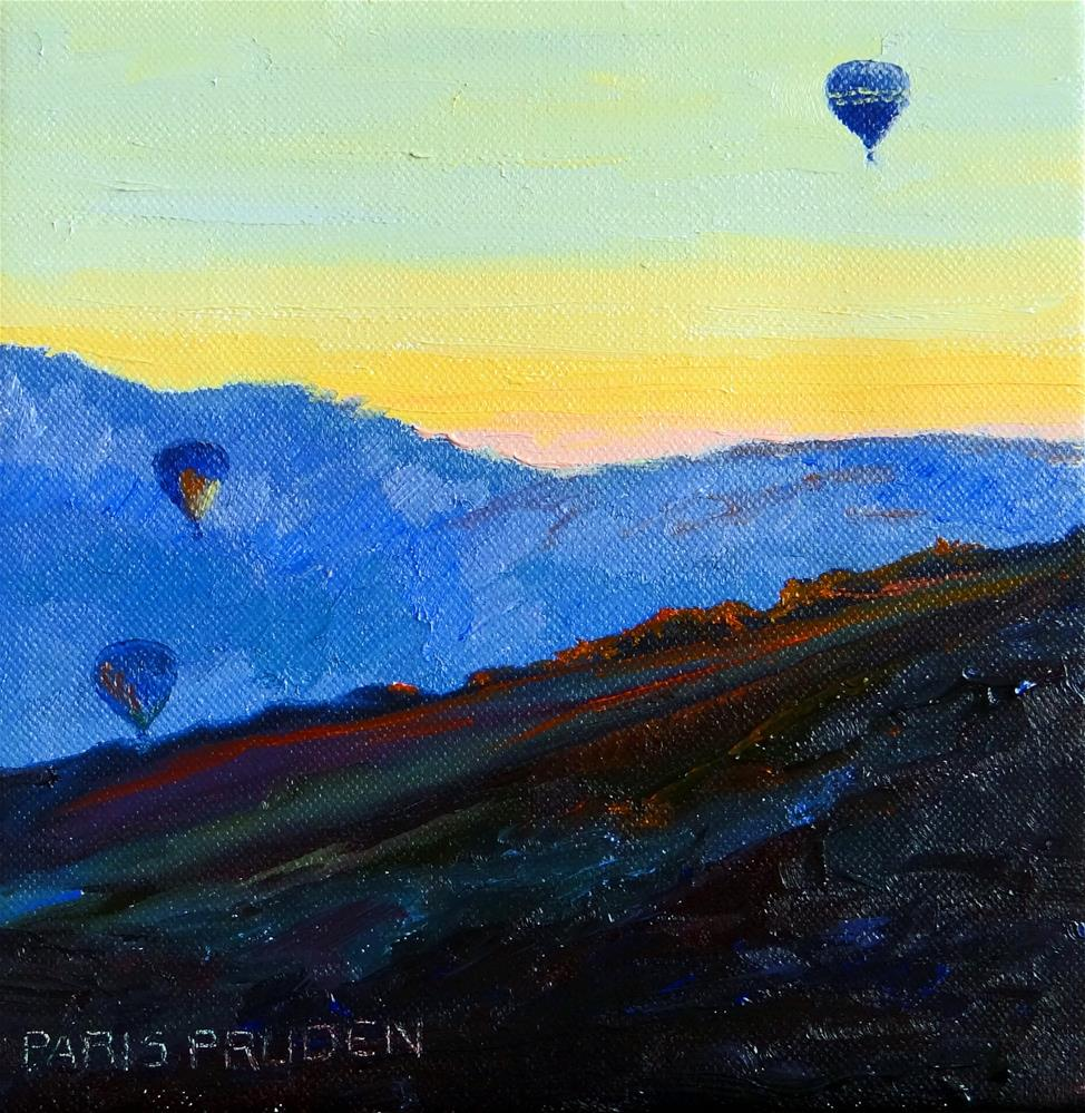 """Park City at 6:00 am"" original fine art by Nancy Paris Pruden"