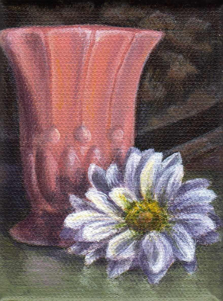 """Vase with Flower"" original fine art by Debbie Shirley"