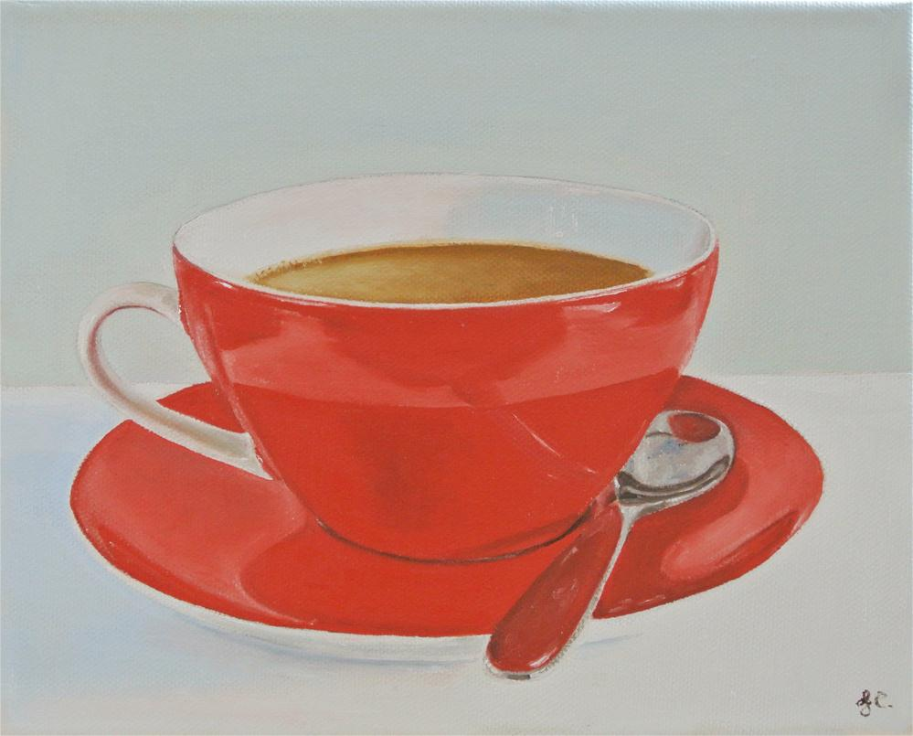 """Coffee Cup"" original fine art by James Coates"