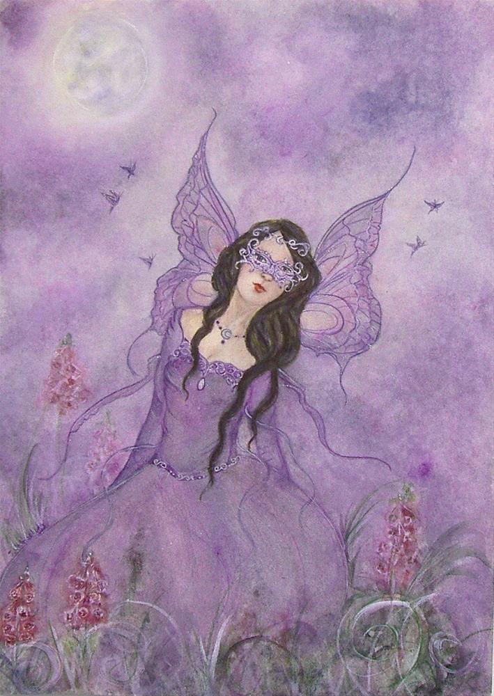 """Moon masquerade"" original fine art by Julie Rabischung"