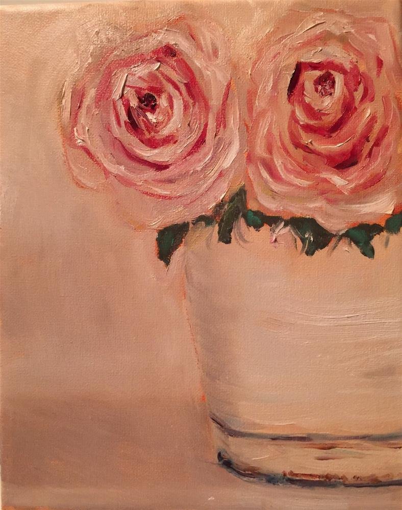 """Shabby Roses"" original fine art by Laura Darnell"