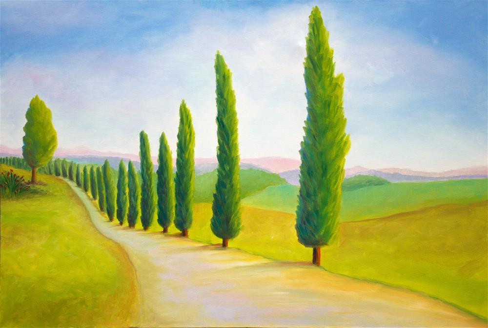 """Winding Cypress"" original fine art by Susan Bertocci"