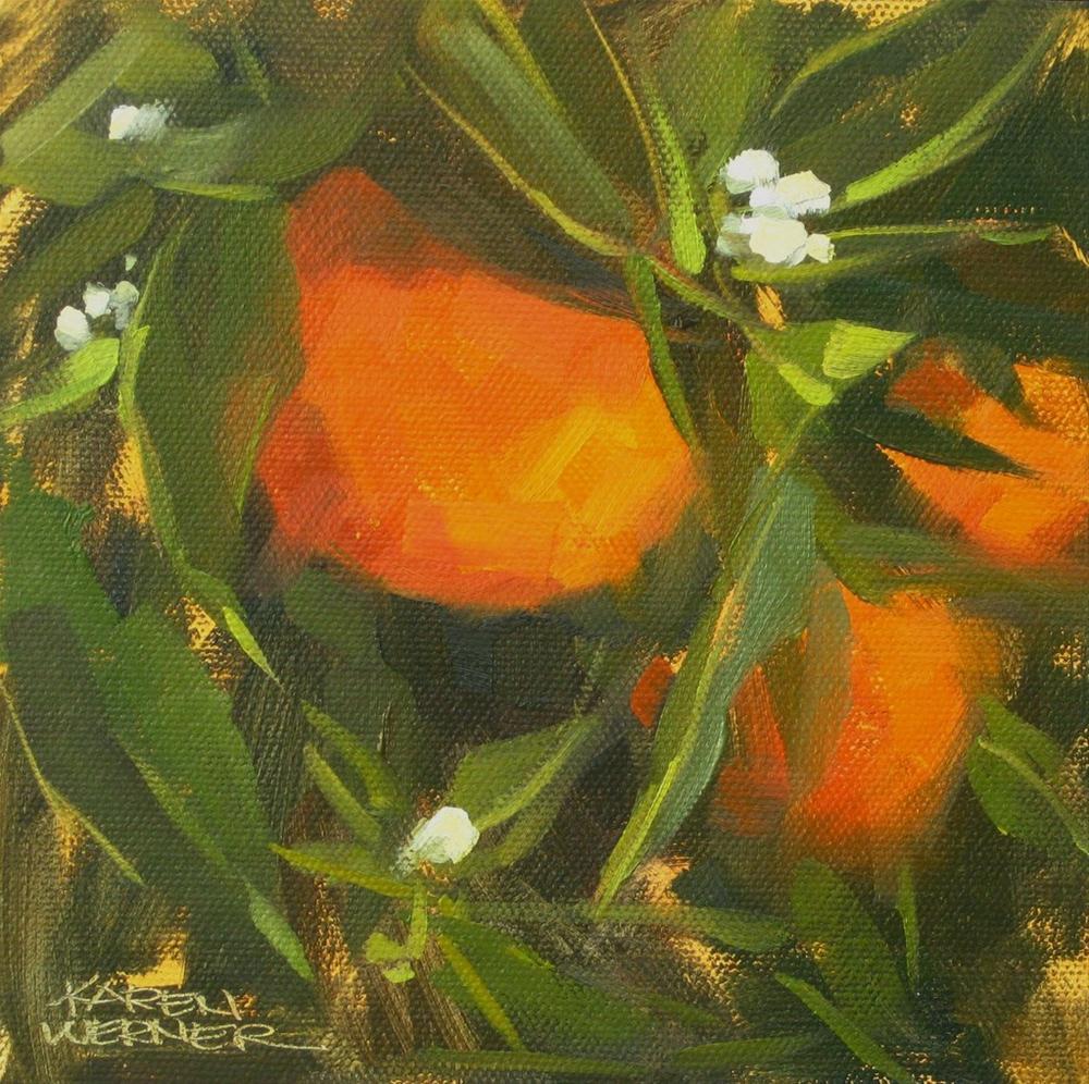 """""""Grove Gold"""" original fine art by Karen Werner"""
