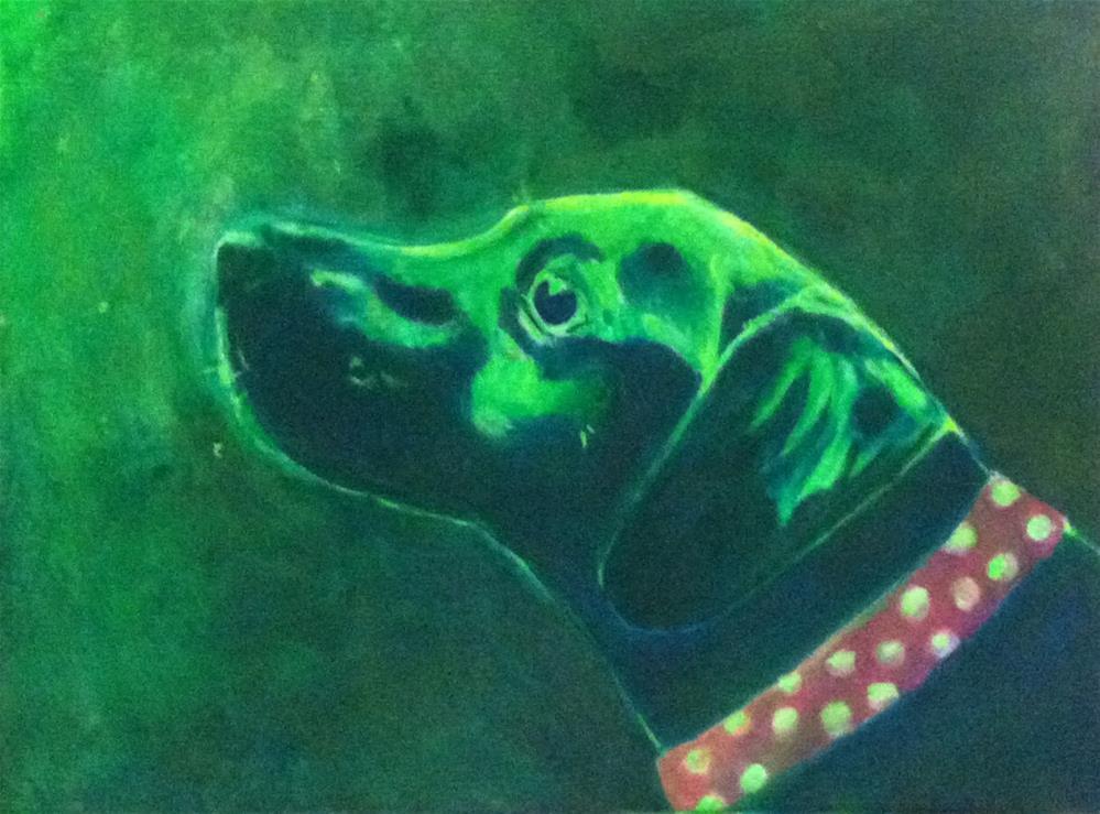 """See ya there, Ma"" original fine art by Hallie Dozier"