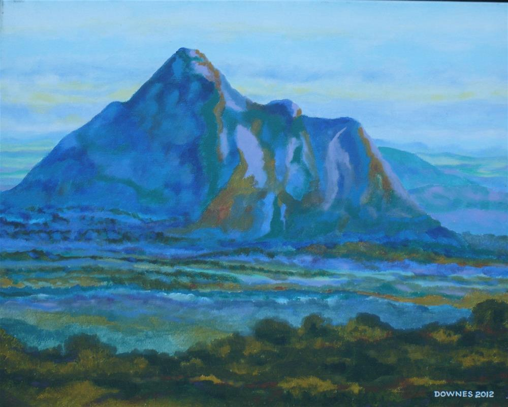 """271 GLASSHOUSE MOUNTAINS 8"" original fine art by Trevor Downes"