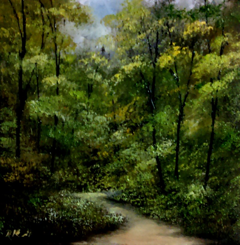 """Into the Woods II"" original fine art by Bob Kimball"