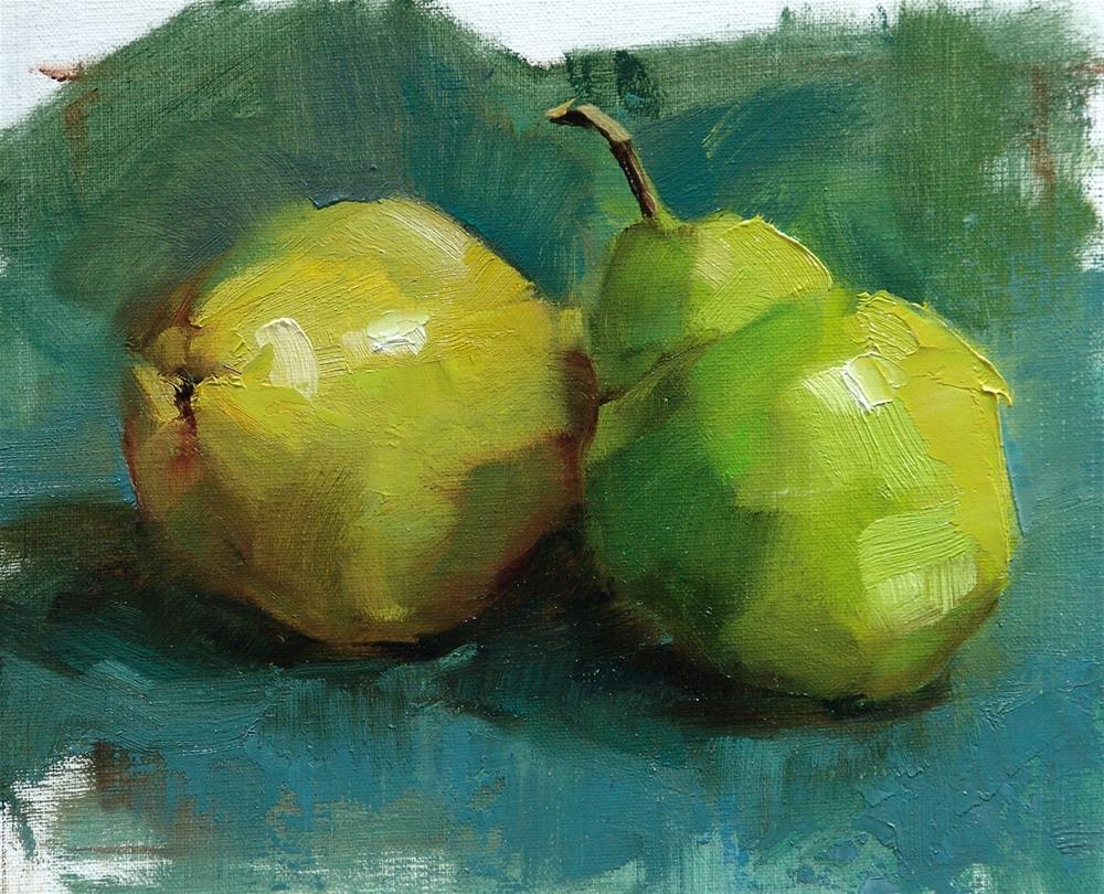 """Pear Study"" original fine art by Barbara Schilling"