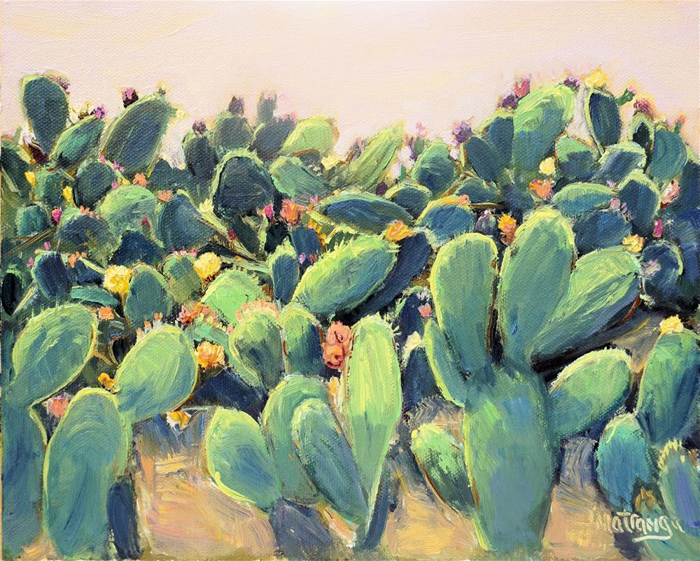 """Cacti - Full Bloom"" original fine art by Patricia Matranga"