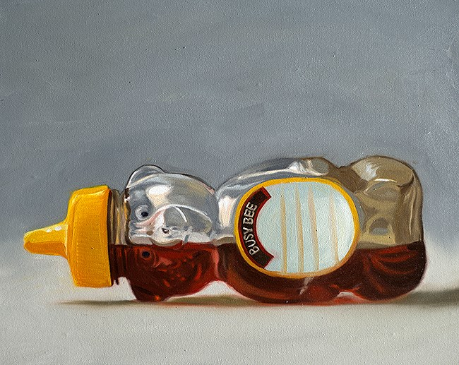 """Honey Bear Bottle"" original fine art by Lauren Pretorius"