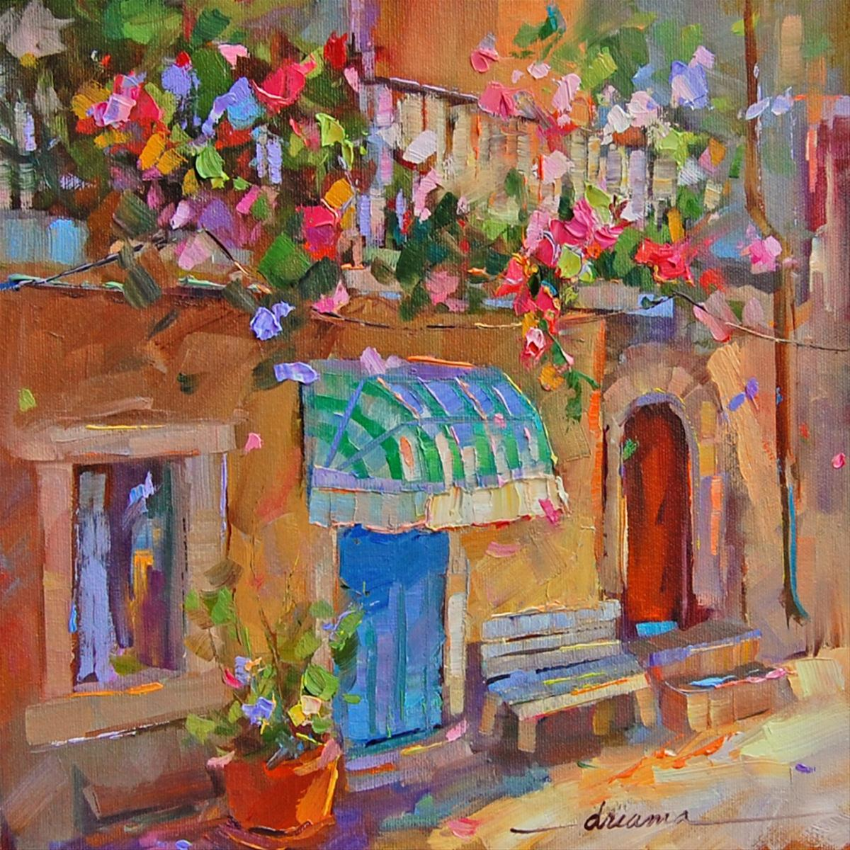 """A Fragrant Affair in France"" original fine art by Dreama Tolle Perry"