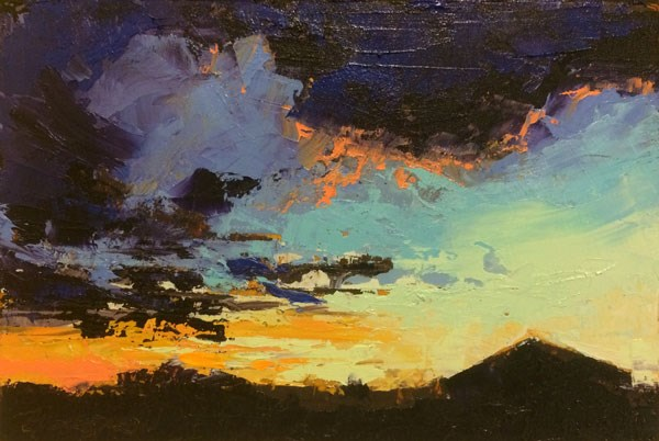 """Midwinter Evening Light"" original fine art by Mary Gilkerson"