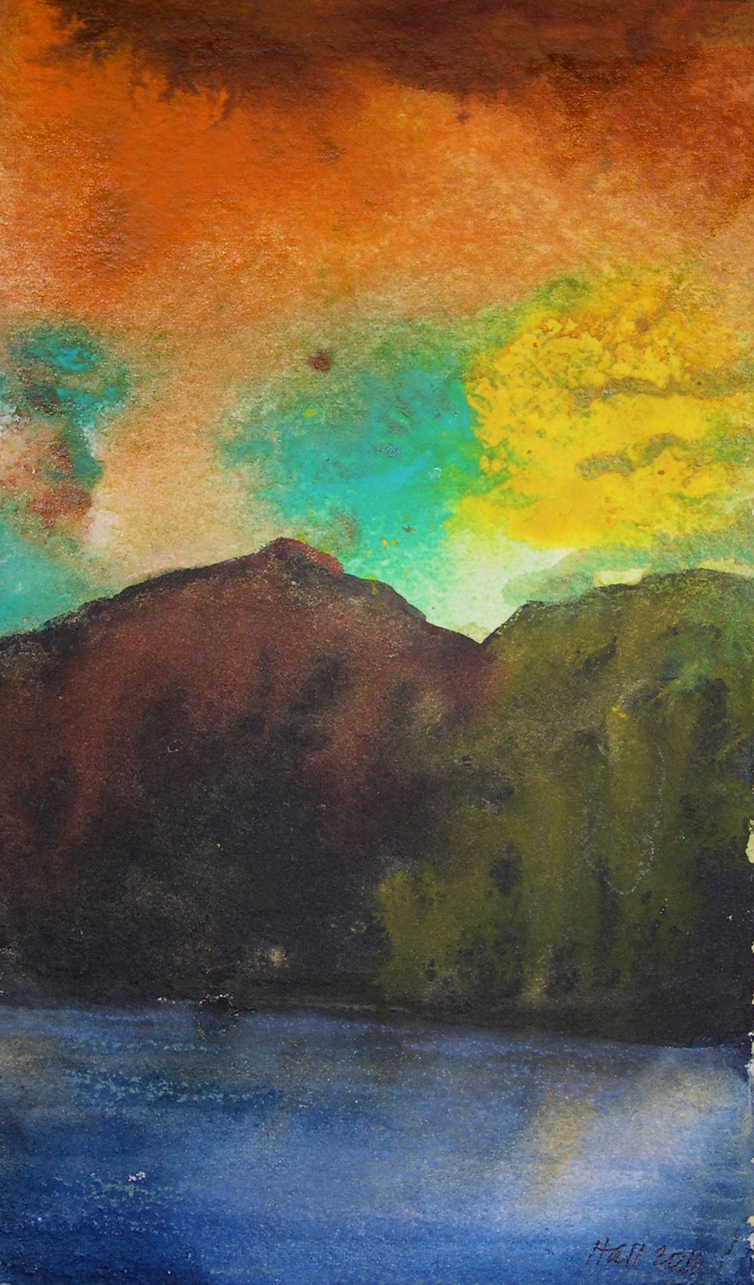 """Sunset in the Mountains"" original fine art by Nancy Hall"