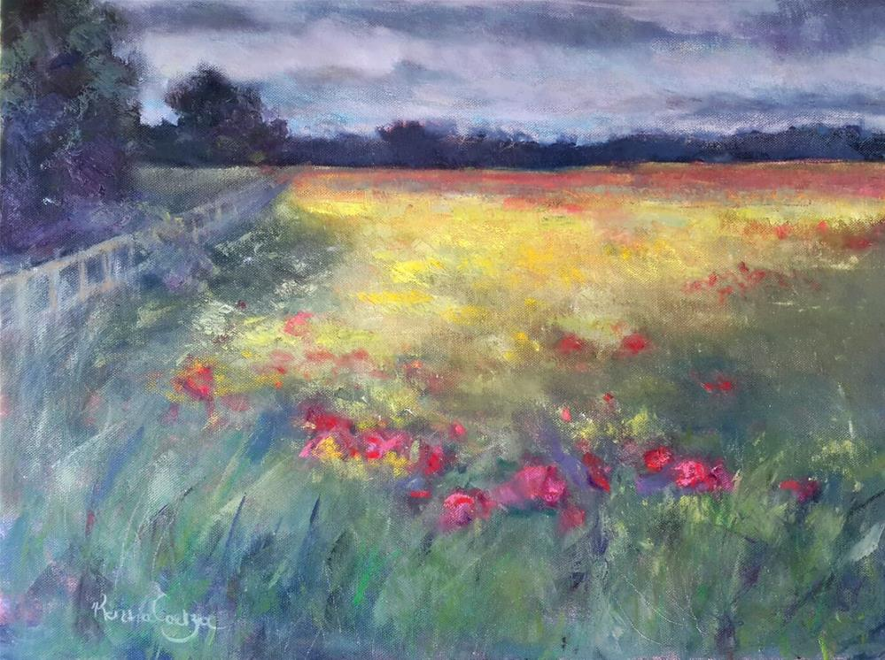 """Fields of gold"" original fine art by Rentia Coetzee"