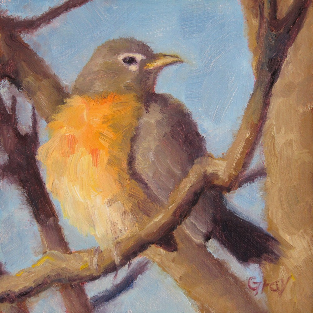 """Mrs. Robin"" original fine art by Naomi Gray"