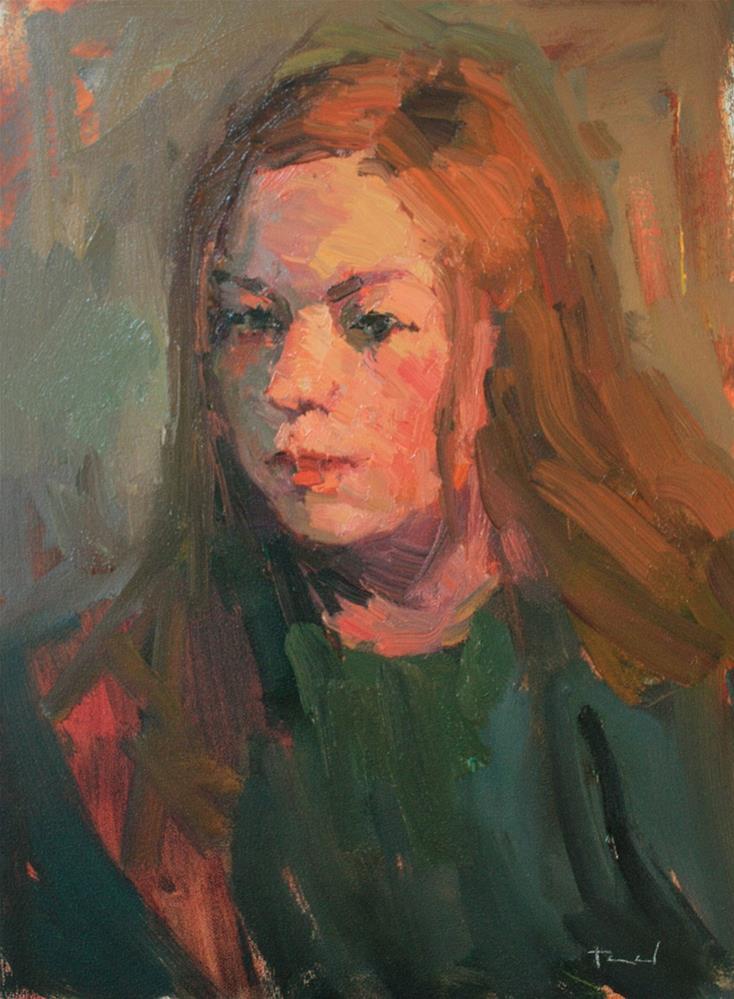 """Girl in Green"" original fine art by Kathryn Townsend"