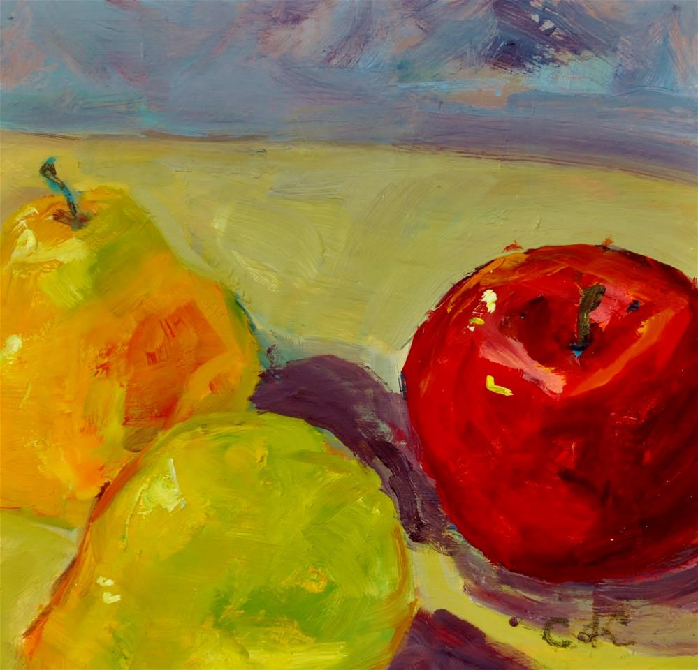 """Apple and Pear Tumble"" original fine art by Catherine Crookston"