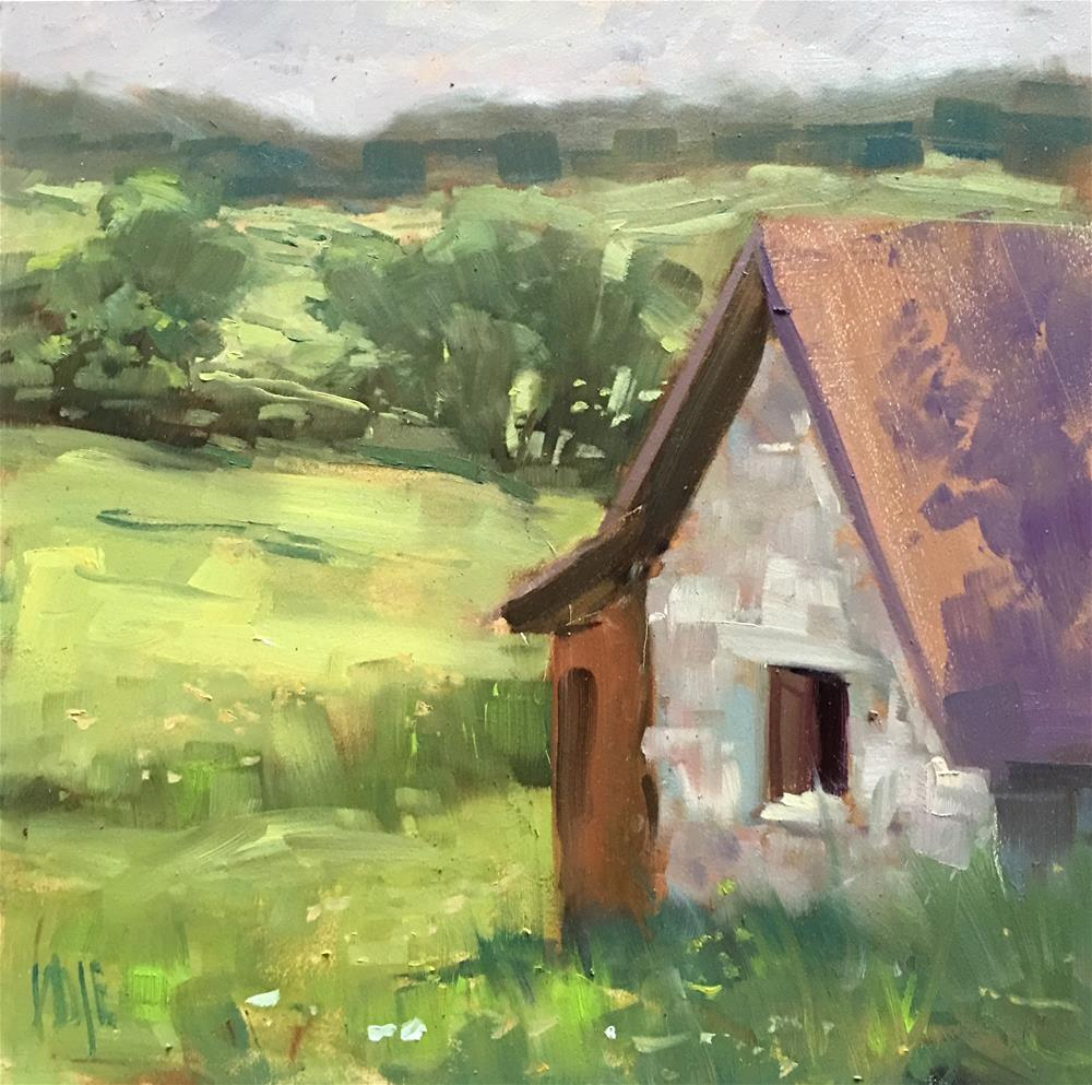 """#359 Bunny Barn"" original fine art by Patty Voje"