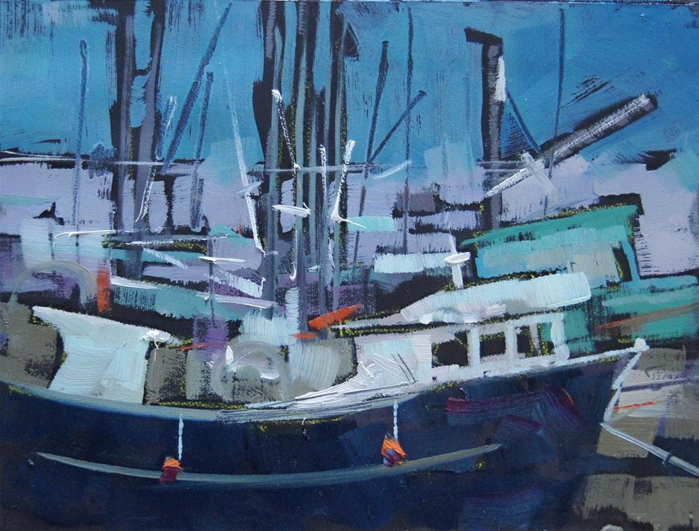 """Harbour View"" original fine art by Brian Buckrell"