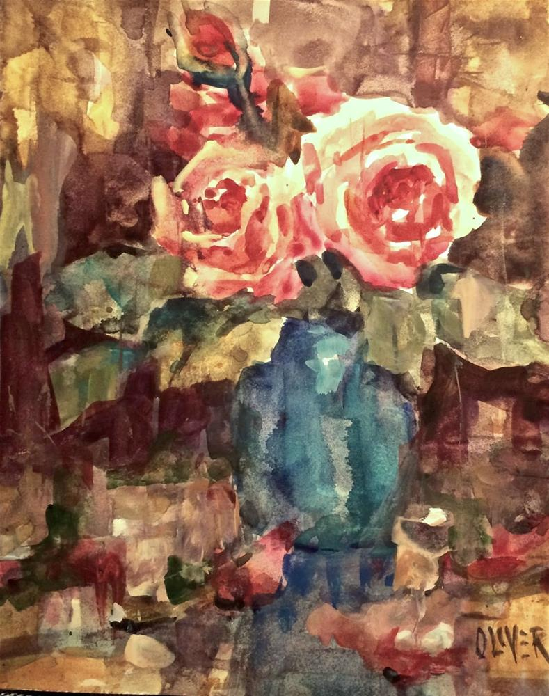 """Rose Duo - Day 10 &11"" original fine art by Julie Ford Oliver"