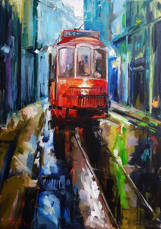 """""""Regen"""" original fine art by Jurij Frey"""