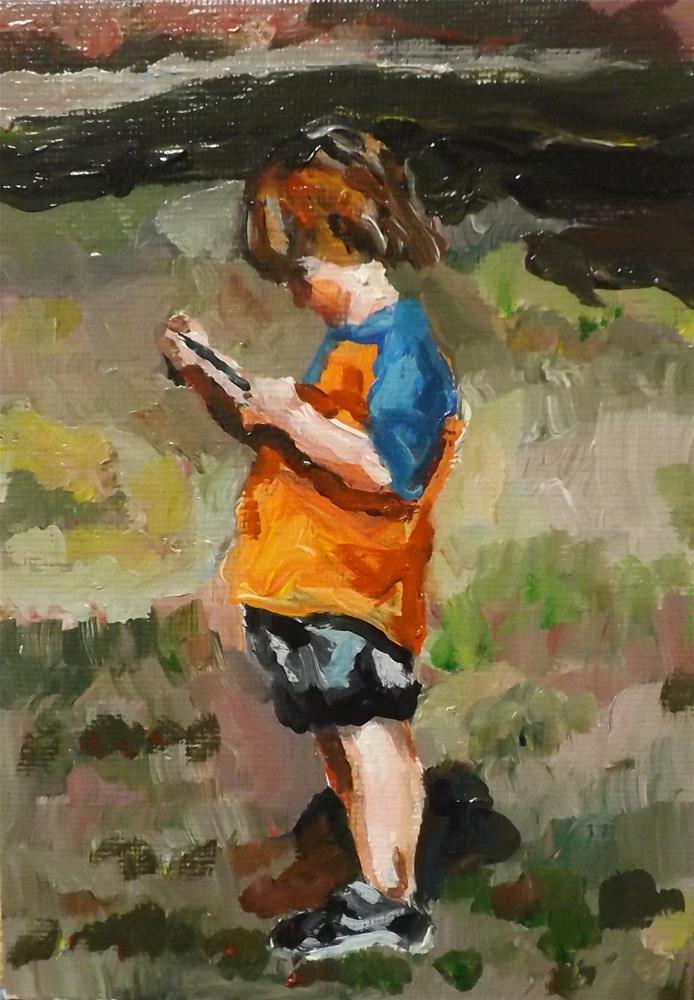 """Boy,A29"" original fine art by Run-      Zhang Zane"