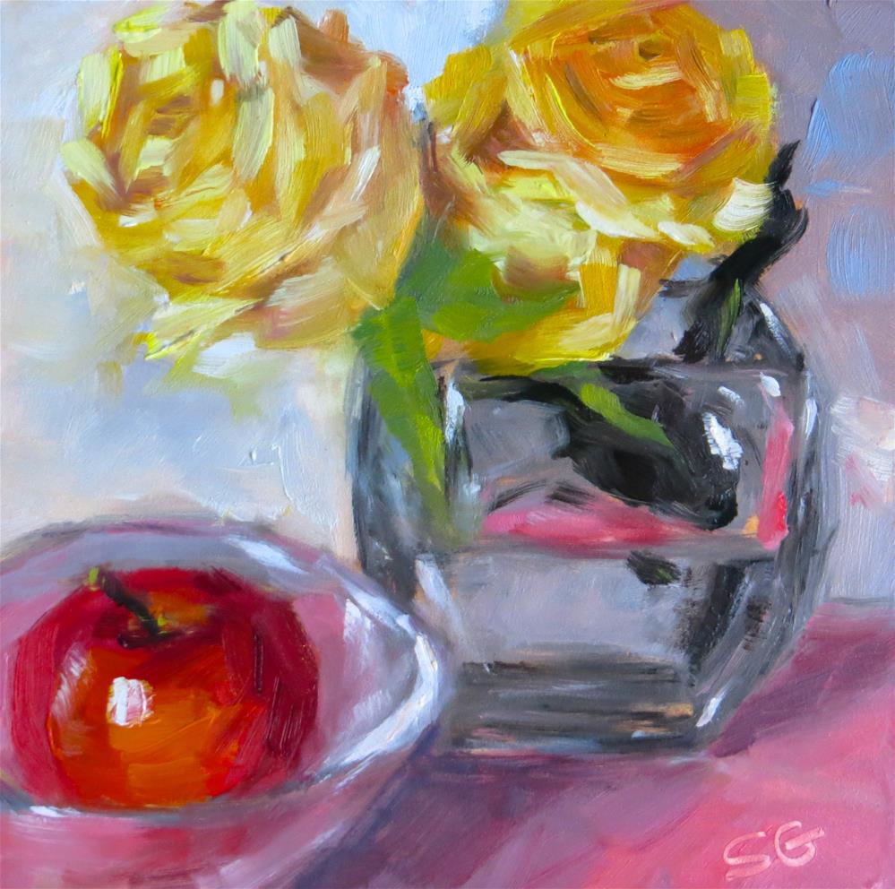 """Yellow Roses"" original fine art by Susan Galick"