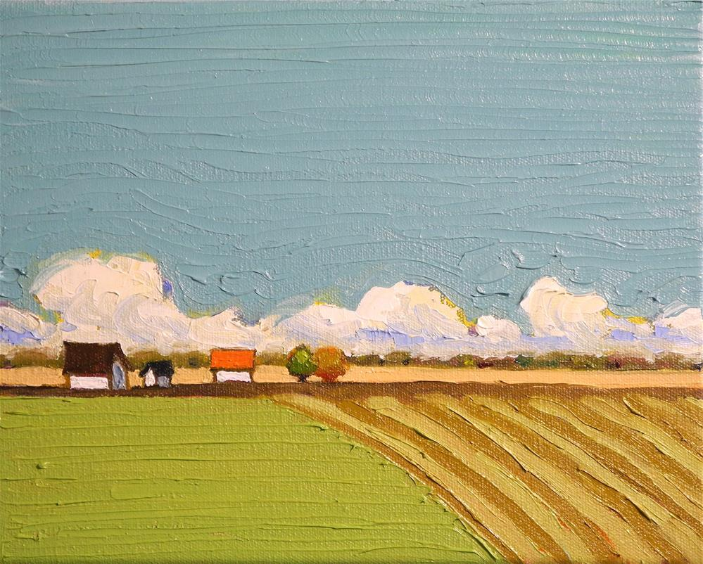 """Fields and Clouds"" original fine art by Donna Walker"