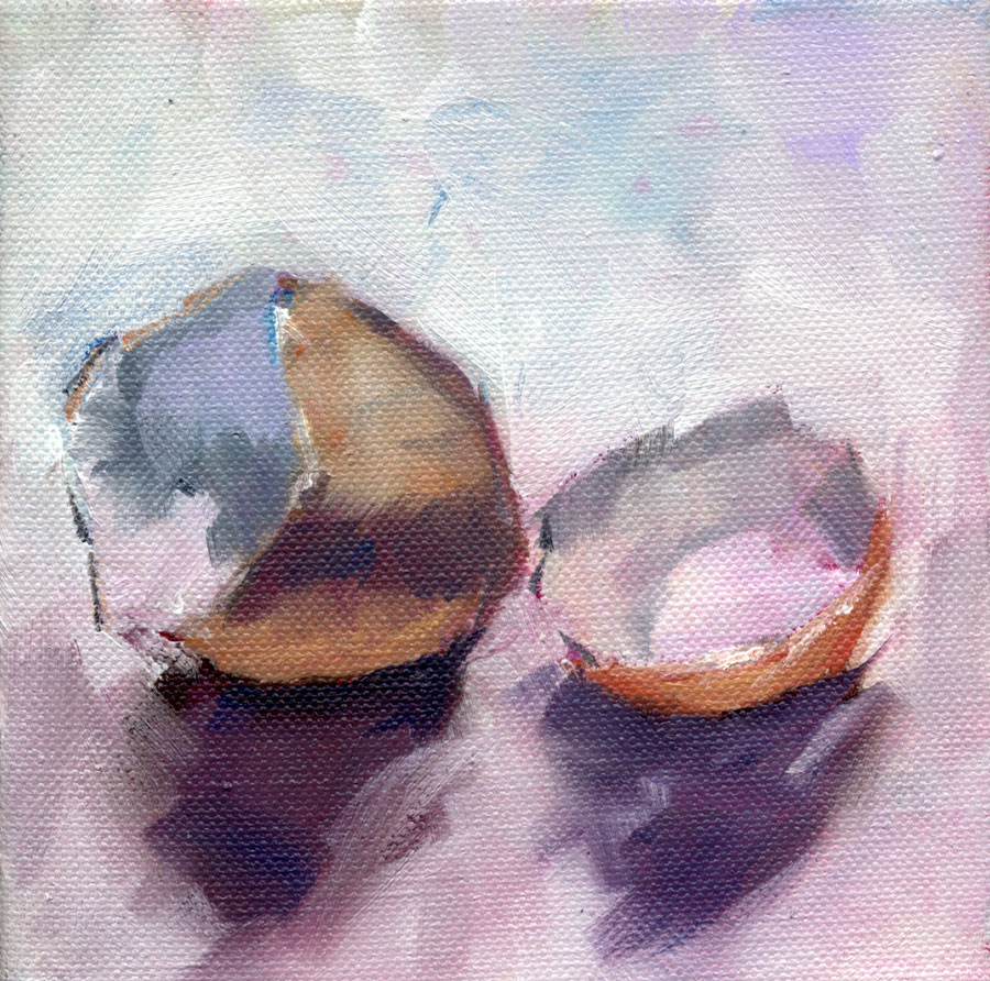 """Broken Egg and Focus on the Coast Magazine Article"" original fine art by Clair Hartmann"