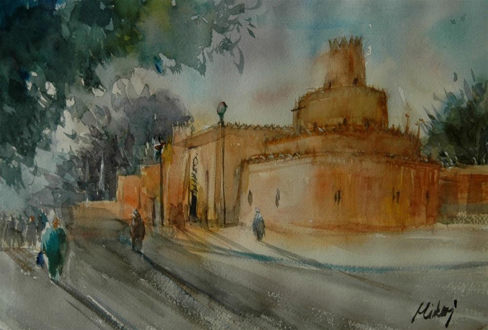 """Al Ain Royal Museum"" original fine art by Midori Yoshino"