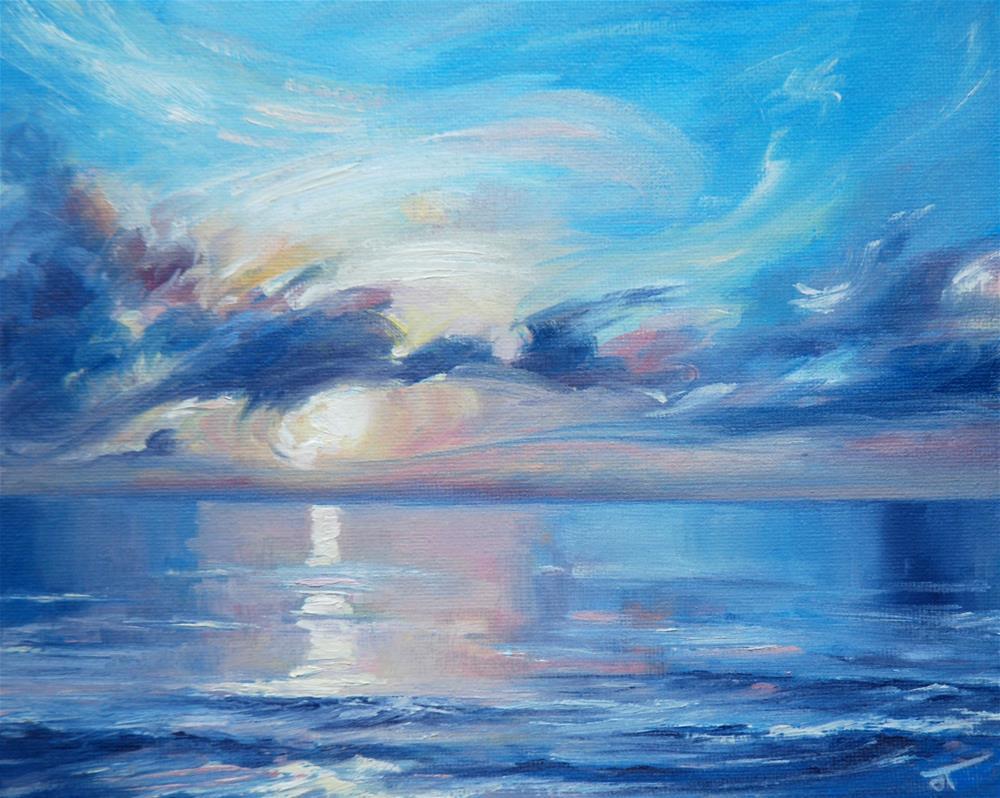 """Hollywood sunrise"" original fine art by Olga Touboltseva-Lefort"
