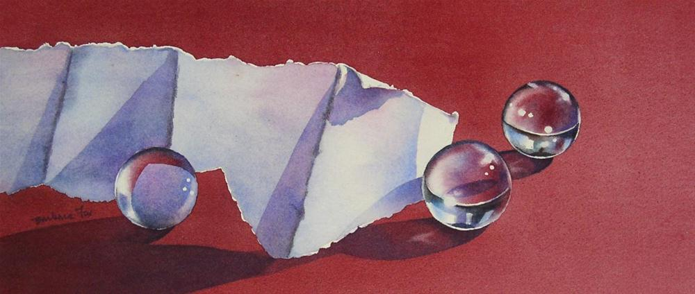 """""""STAKING A CLAIM (SOLD) watercolor still life painting"""" original fine art by Barbara Fox"""