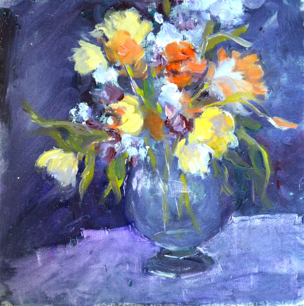 """Millies flowers"" original fine art by Dorothy Redland"